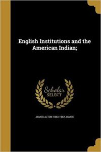 English Institutions And The American Moor