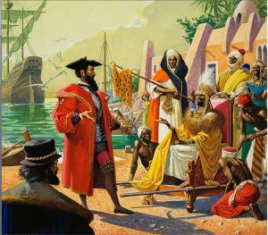 Columbus Plan: Sail West to Set up Trading Post to Finance Crusade Against Moors !