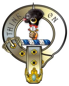The Moor's Head on Crest of Arms of Lord Kirkcudbrithe (Scottish Clan MacLellan)