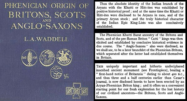 The Phoenician Origin of Britons Scots and Anglo-Saxons by Laurence Waddell